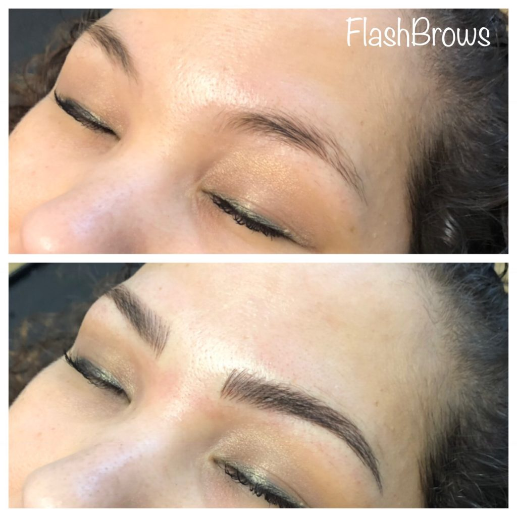 Flash Brows Before and After Microblading
