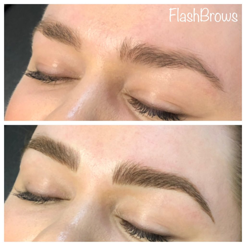 Before and After Microblading from Flash Brows