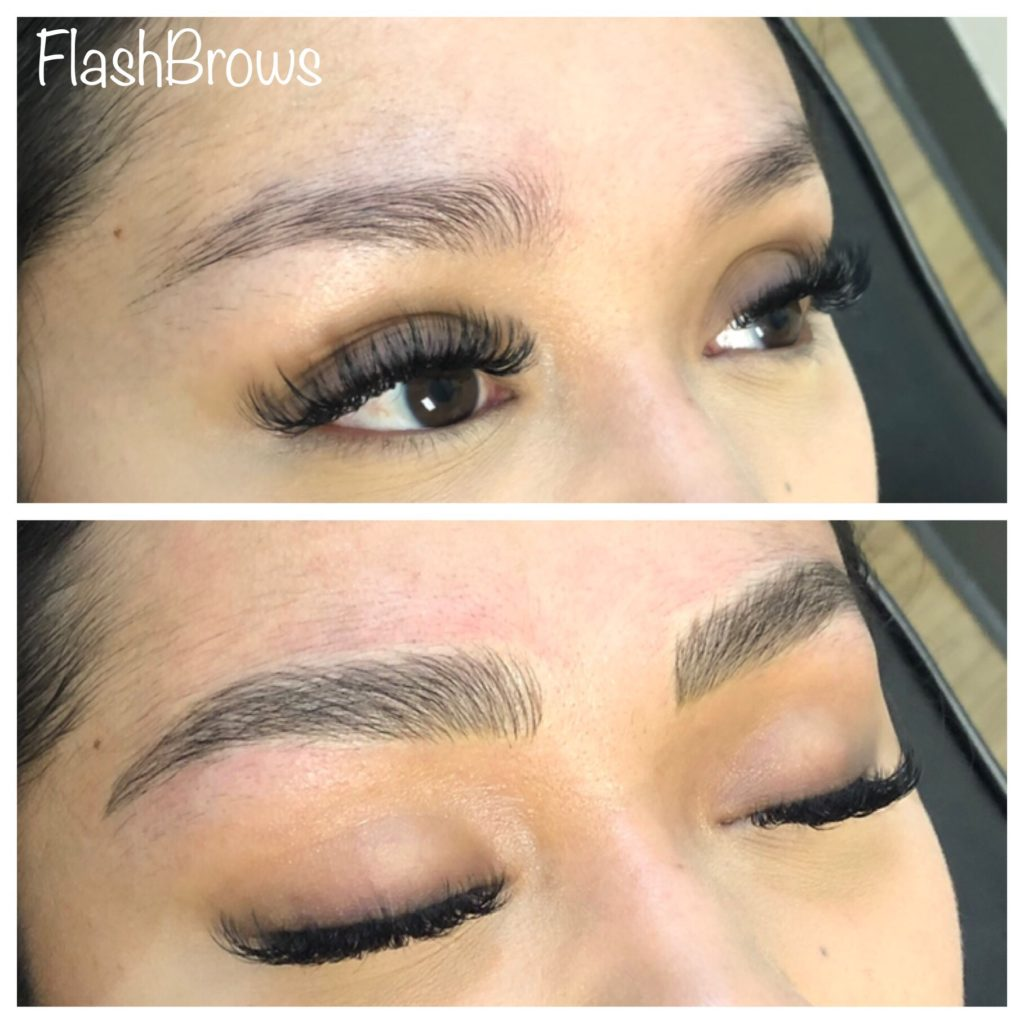 Microblading before and after from Flash Brows