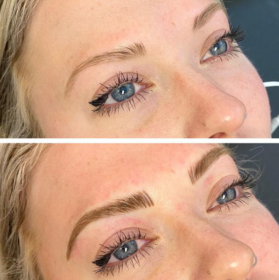 Microblading for Blondes, before and after in Frisco, Texas