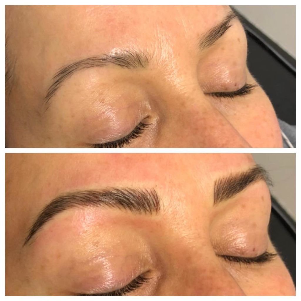 Microblading Before and After in Dallas from Flash Brows