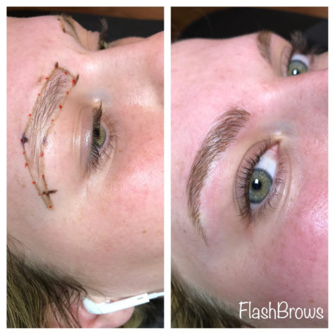 Before and After Microblading Eyebrows Dallas Texas